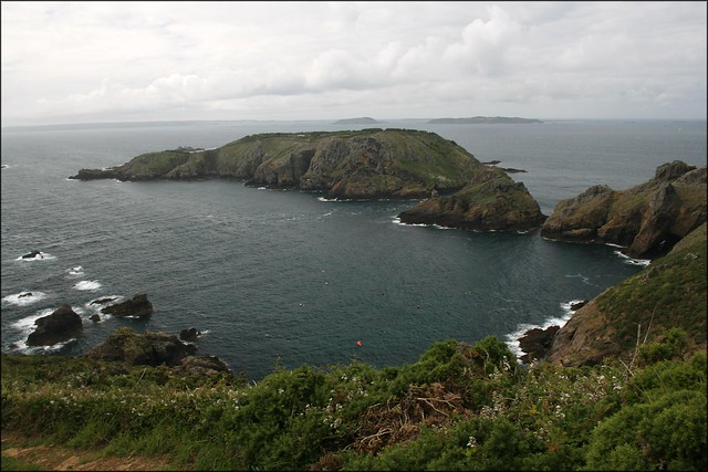 Brecqhou from the Pilcher Monument, Sark