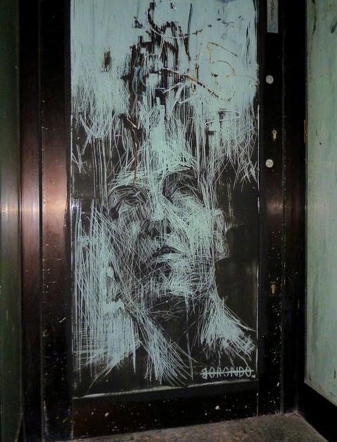 Roma. Monti. Street art by Borondo