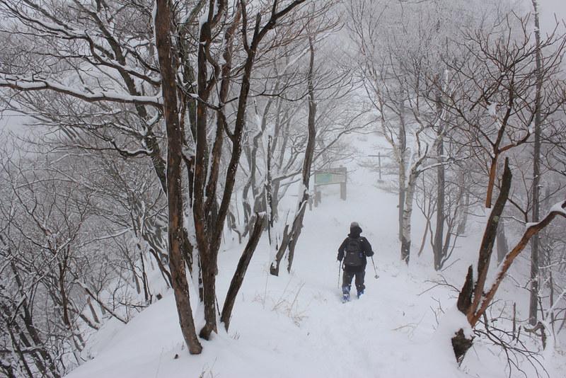 社山 雪山登山