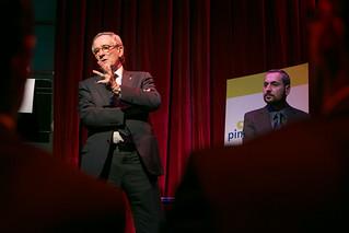 Sopar-col·loqui amb l'alcalde de Barcelona, Xavier Trias. A la Sala B, de Barcelona. 4 de febrer de 2013.