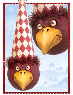 Grumpy Bird - Red