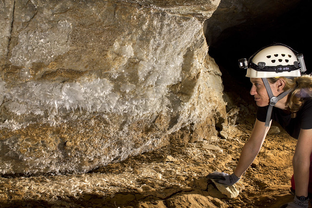 Natalie Pheasant, Gypsum Wall, Blue Spring Cave, White County, Tennessee 1