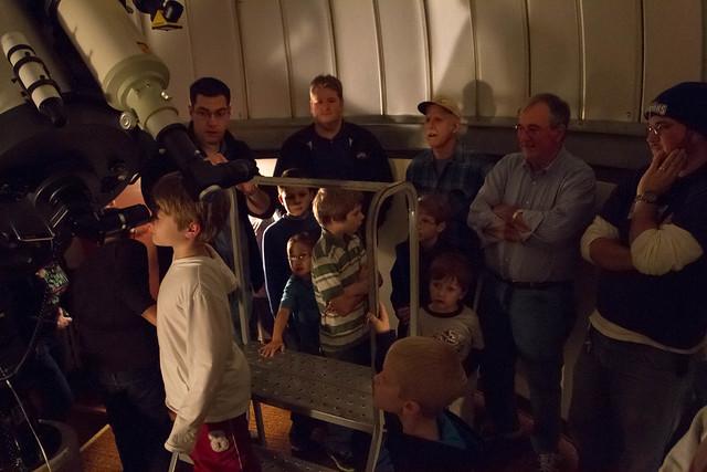 Community Boy Scouts gaze at the stars