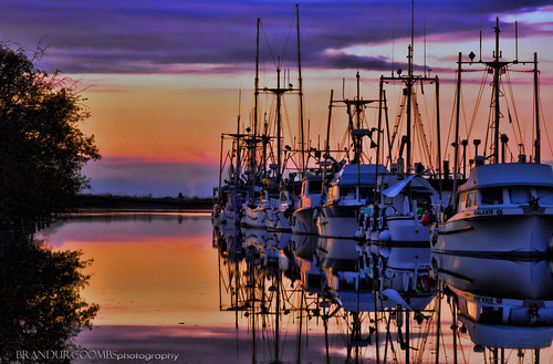 sunset canada water boats bc britishcolumbia sunsets richmond historic hdr steveston 2012 kx brandur explored