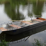 Aluminium fishing boat - Welded aluminium boat - Light dinghy boat - Tender boat