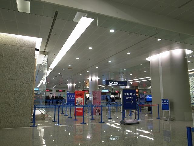 <p>浦東空港の到着</p>