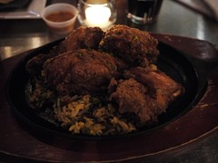 金, 2013-01-18 19:20 - Southern Fried Chicken w/Spicy Mango Habanero Wild Rice