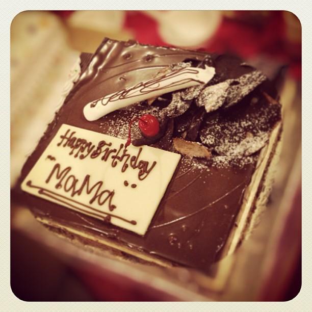 Superb Happy Bday Mom Cake Chocolate Birthday Tiuplilin Flickr Funny Birthday Cards Online Alyptdamsfinfo