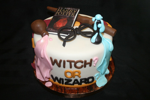 Harry Potter Gender Reveal Cake | by alicia's_cupcakes