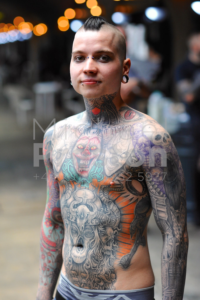 Tattooed Man 9 A Man With A Full Body Tattoo At The 12th L