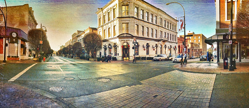 Panorama of Government street . Victoria