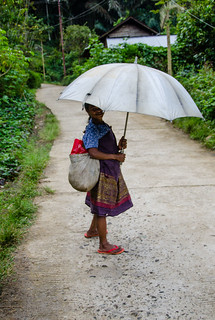 An old woman with her umbrella | by Jerome Nicolas