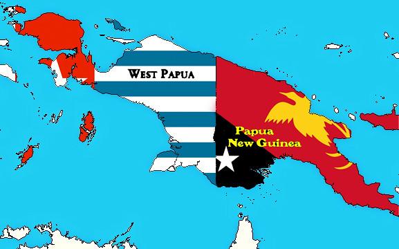West Papua & Papua New Guinea Flag Map | AK Rockefeller | Flickr