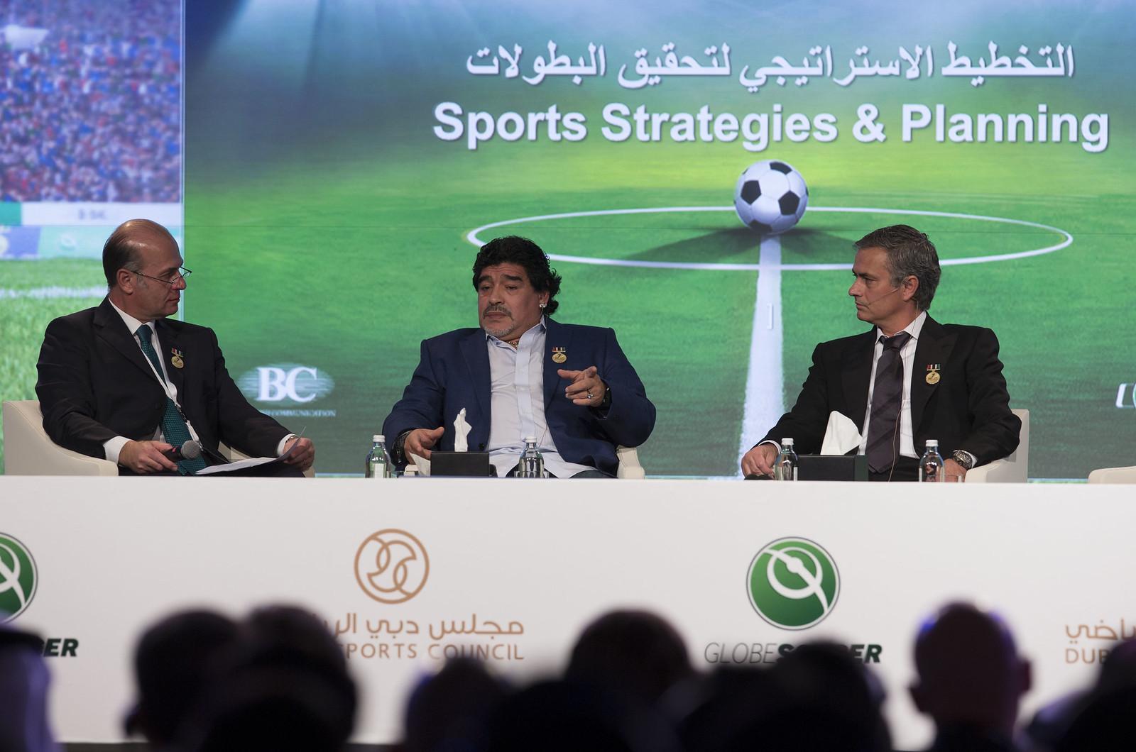 Umberto Gandini, Diego Armando Maradona and Josè Mourinho