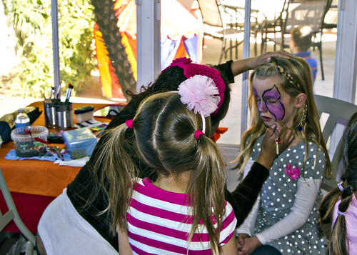 Reilly getting her face painted | by The Spohrs Are Multiplying...