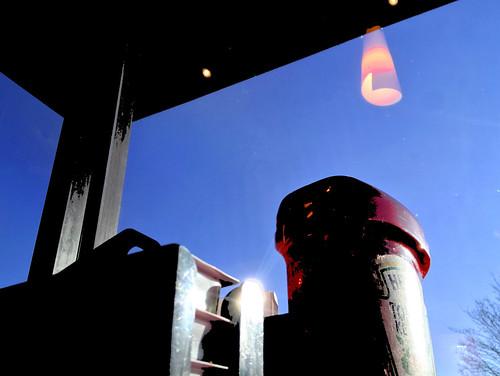 sky ketchup lamp reflection