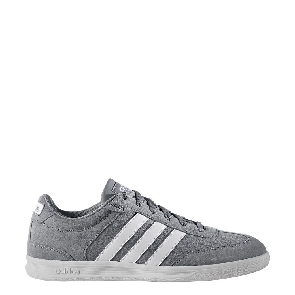 Men's Adidas NEO Cross Court Grey Athletic Sneaker Lifestyle