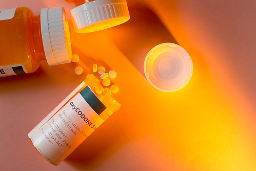 Oxycodone Prescription Bottle with Pills Spilling Out. | by ShebleyCL