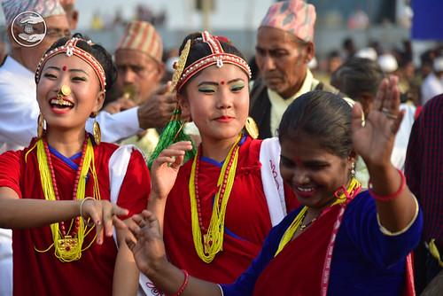 Devotees expressing their joy to see Satguru amongst them