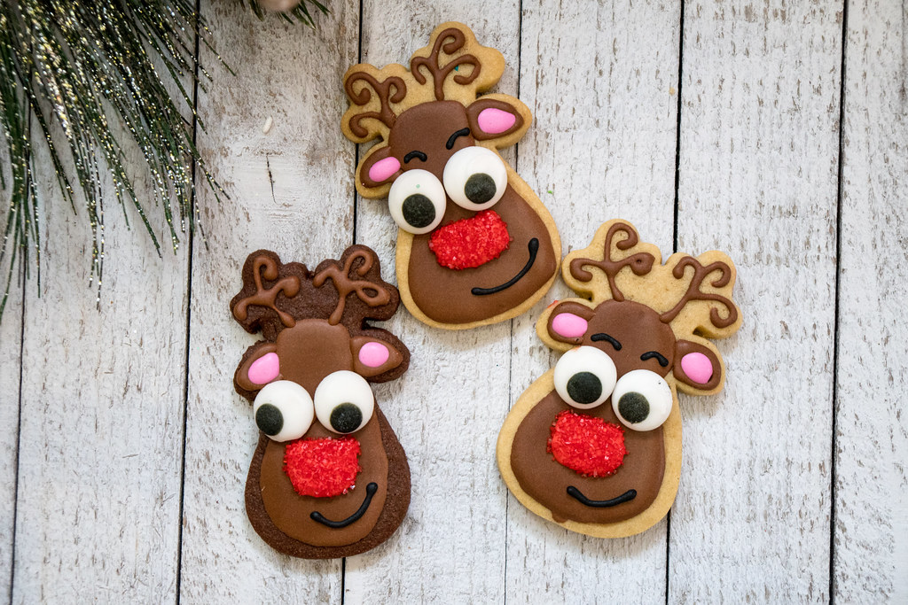 Cute Reindeer Sugar Cookies M01229 Flickr