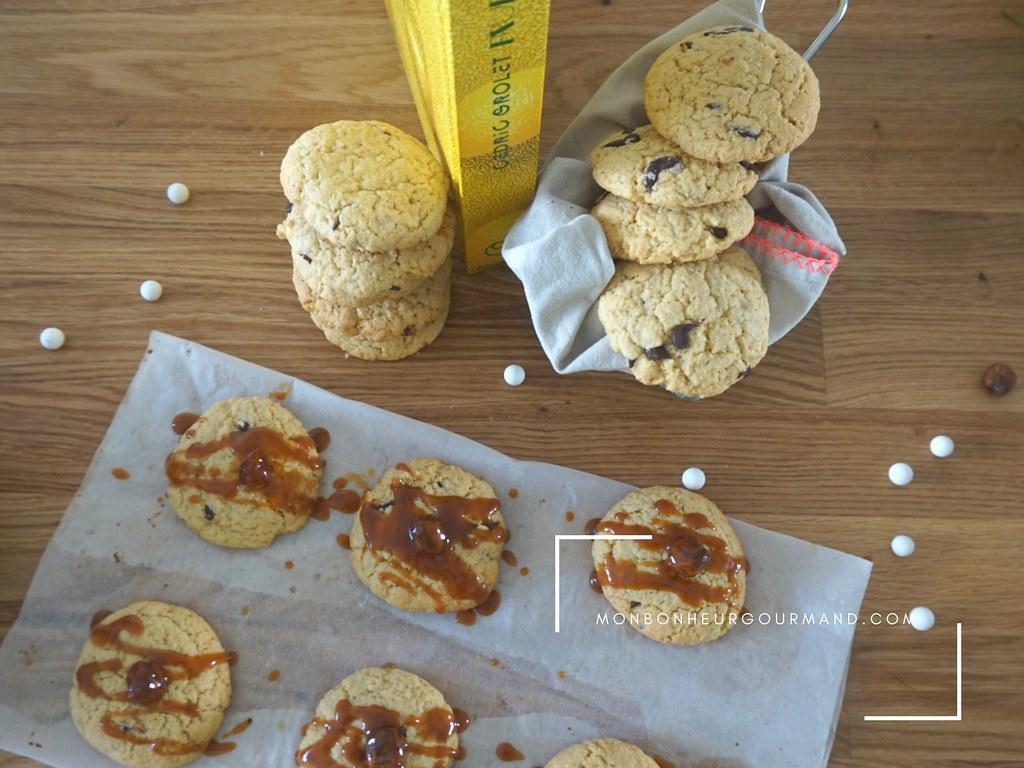 cookies canberry et chocolat npir inspiré de Cédric Grolet 3