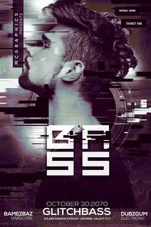 Glitch Bass Flyer / Poster Template
