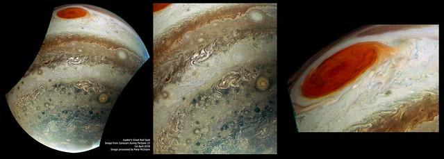 Jupiter's Great Red Spot from Junocam