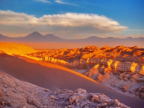 Landscape of mountain range in Chile / Landschaft der Bergkette in Chile   by wuestenigel