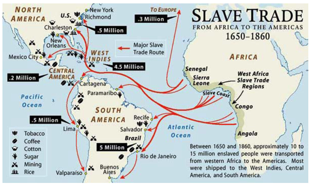 The Atlantic Slave Trade Map Slave Trade Map | The Atlantic slave trade or transatlantic … | Flickr