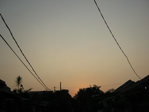 sunset shadow sky wire