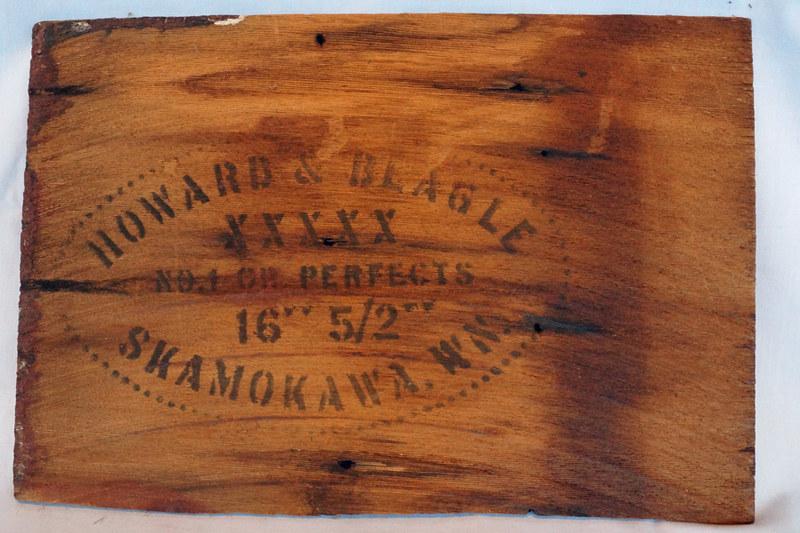 DSC02014 Wood Panel from Box Marked Howard & Beagle Skamokawa, WN
