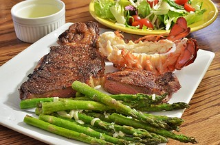 Mmm... steak and lobster | by jeffreyw