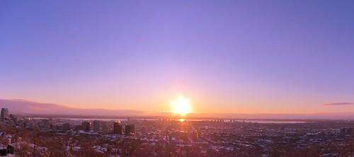 winter sunrise quebec montreal westmount