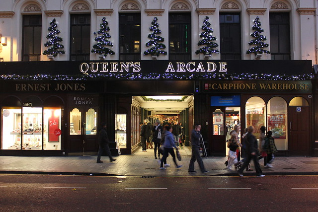 Queen's Arcade, from Donegall Place, Belfast