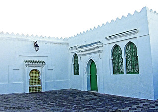 Morocco, Asilah, restored traditional  houses