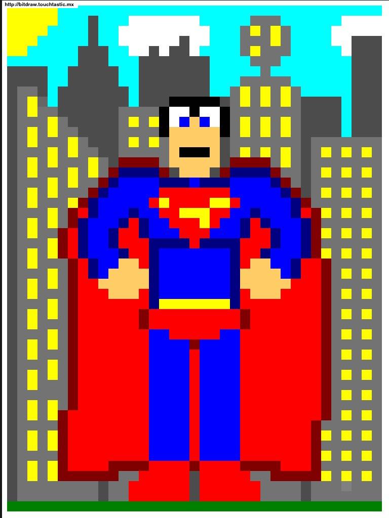 Pixel Superman Dans Pixel Art Flickr