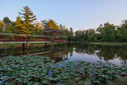 sunset mountain lake water high pond dynamic springs arkansas range hdr eureka