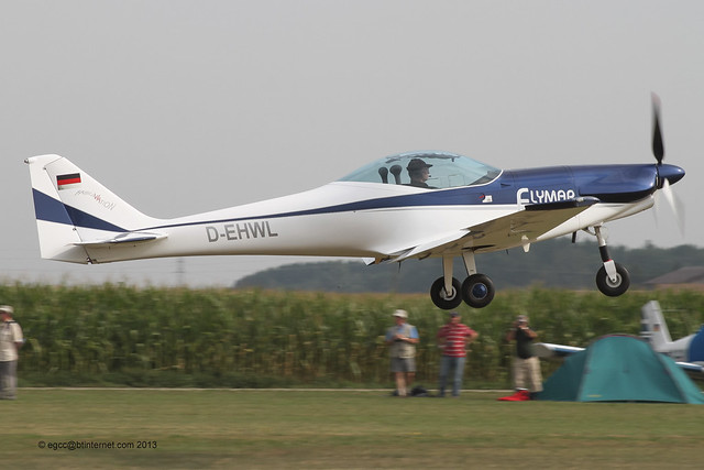 D-EHWL - 2013 build Dallach D.4 Fascination VLA, departing from Tannheim during Tannkosh 2013