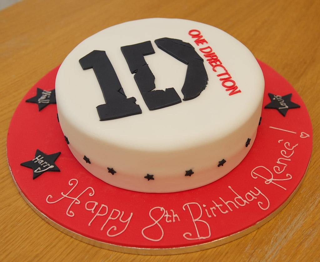 Pleasant One Direction Logo Cake Sue Burrows Flickr Funny Birthday Cards Online Elaedamsfinfo