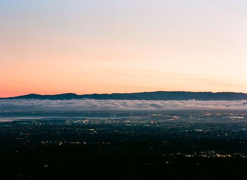 california 120 film sunrise dawn iso100 kodak sanjose siliconvalley losaltos kodakfilm ektar pentax645 150mm pagemill kodakektar 6x45cm ektar100