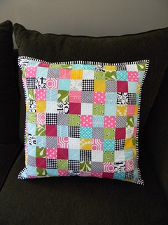 patchwork pillow | by teaginny