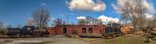 california park railroad train state railway sierra historic jamestown roundhouse 1897 railtown