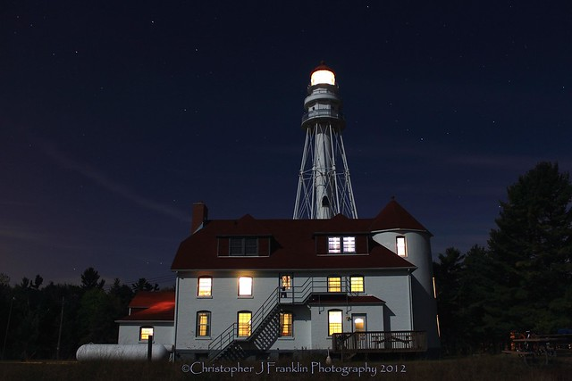 Rawley Point Lighthouse, Night
