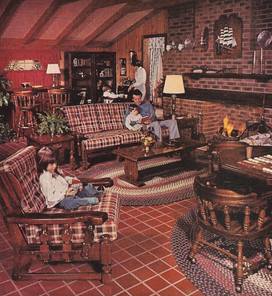 1977 Sears Open Hearth Family Room Furniture Magazine Ad Flickr