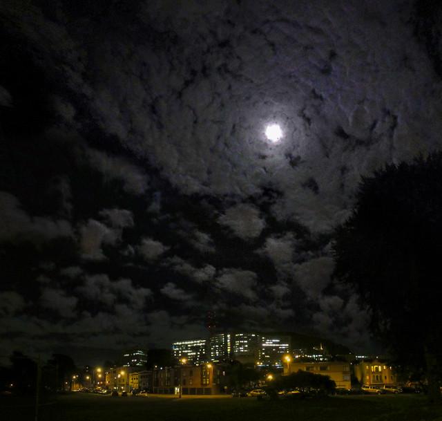 Moon over Kezar Triangle