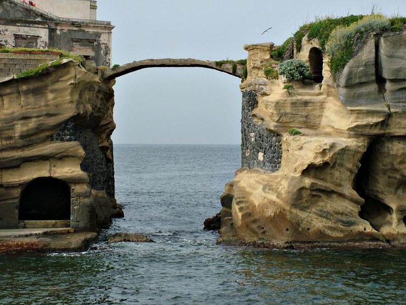 The Gaiola's bridge, Gaiola, Italy