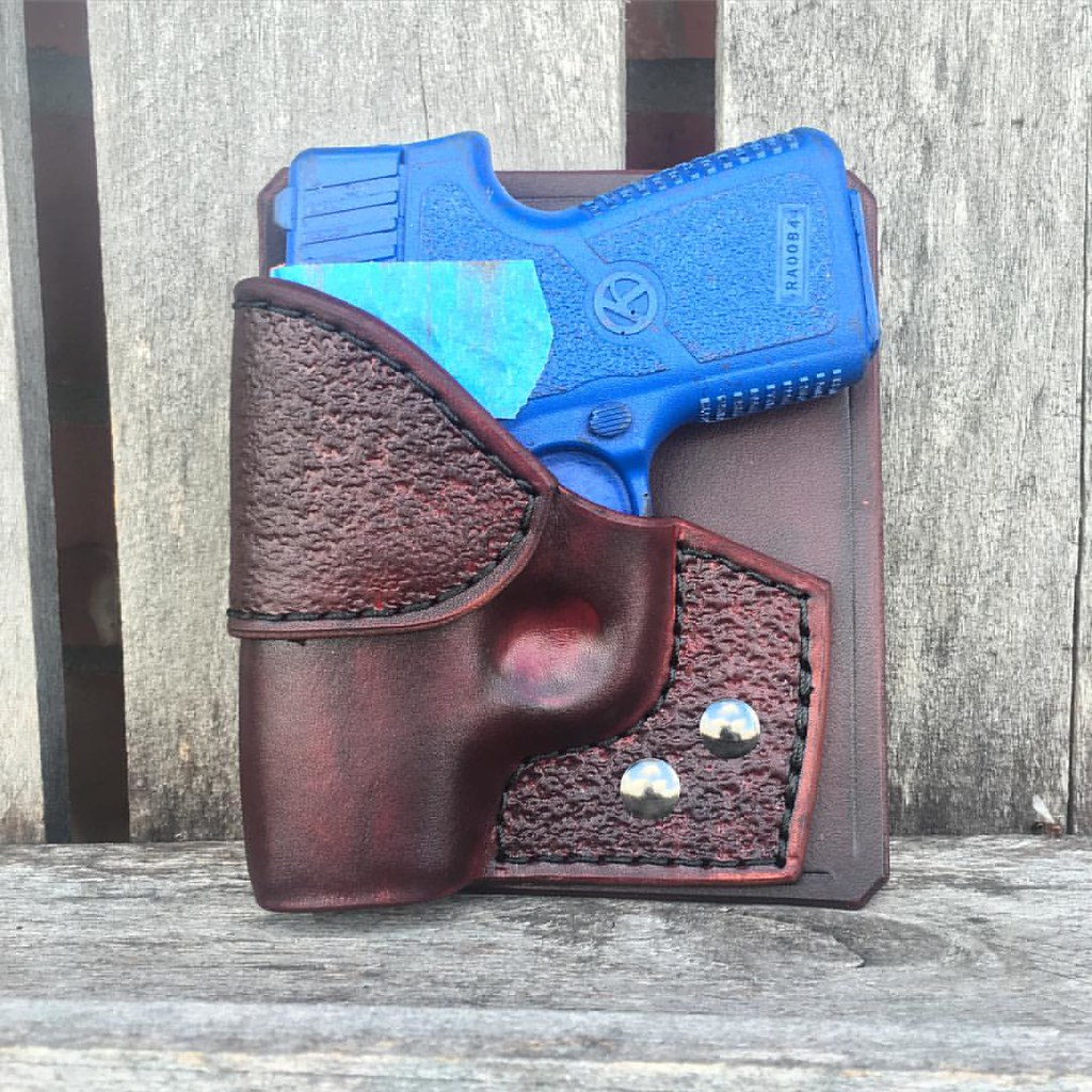 Combo Pocket Holster for #Kahr #Cw380 in Mahogany Cowhide
