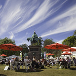 Charlotte Square Gardens | A beautifully sunny day at the Book Festival © Robin Mair