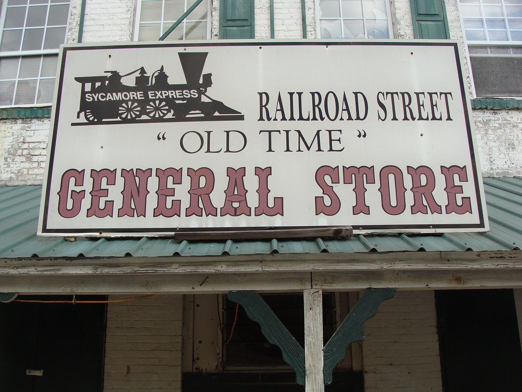 Railroad Street Old Time General Store Sign Sycamore Flickr