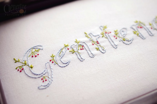 Gentleness Embroidery Pattern by Clementine Pattern Co. | by Simply Vintagegirl